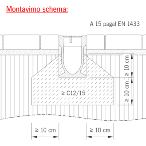 Monoblock PD A15 trinkelių dangoje