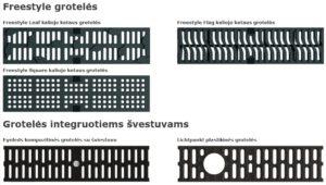 Multiline latakų grotelės 2